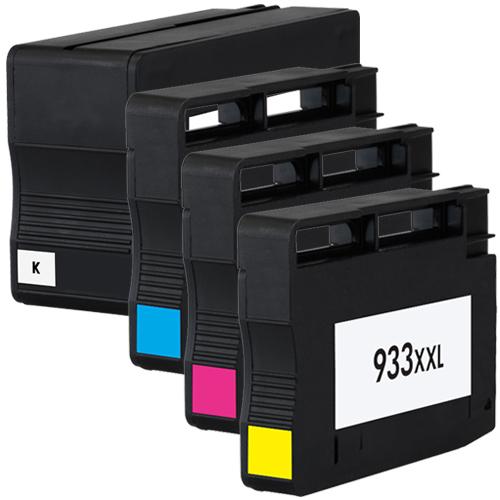 4 für HP 932 XL & 933 XL Officejet 6100 e-printer 6600 e ...