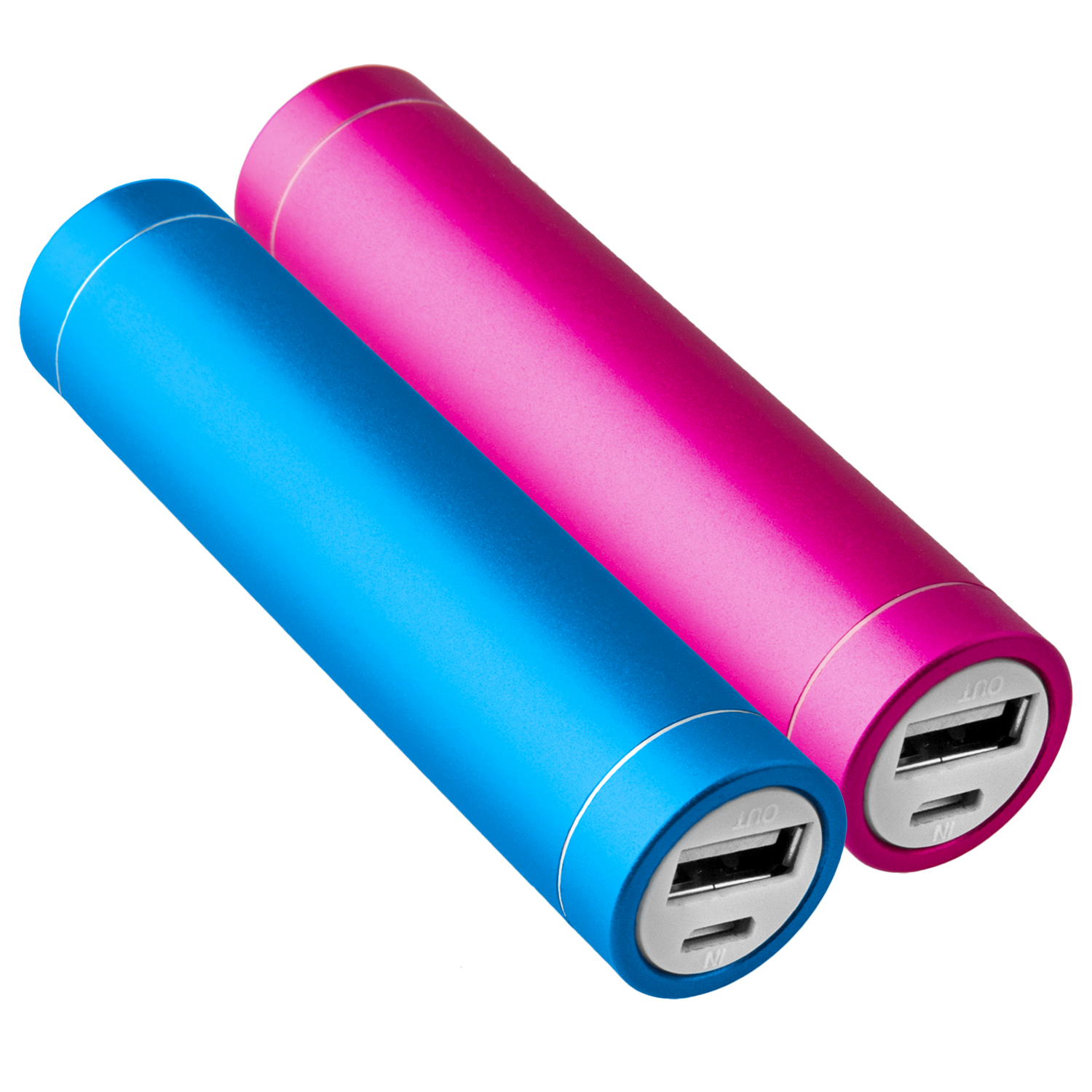 2x-Power-Bank-Akku-2600-mAh-Ladegeraet-extern-USB-iPhone-5s-blau-pink-NT003