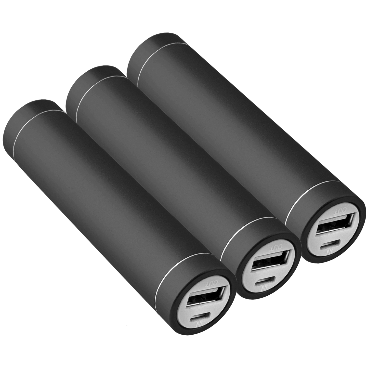 3x-Power-Bank-Akku-2600-mAh-Ladegeraet-extern-USB-iPhone-5s-schwarz-NT003