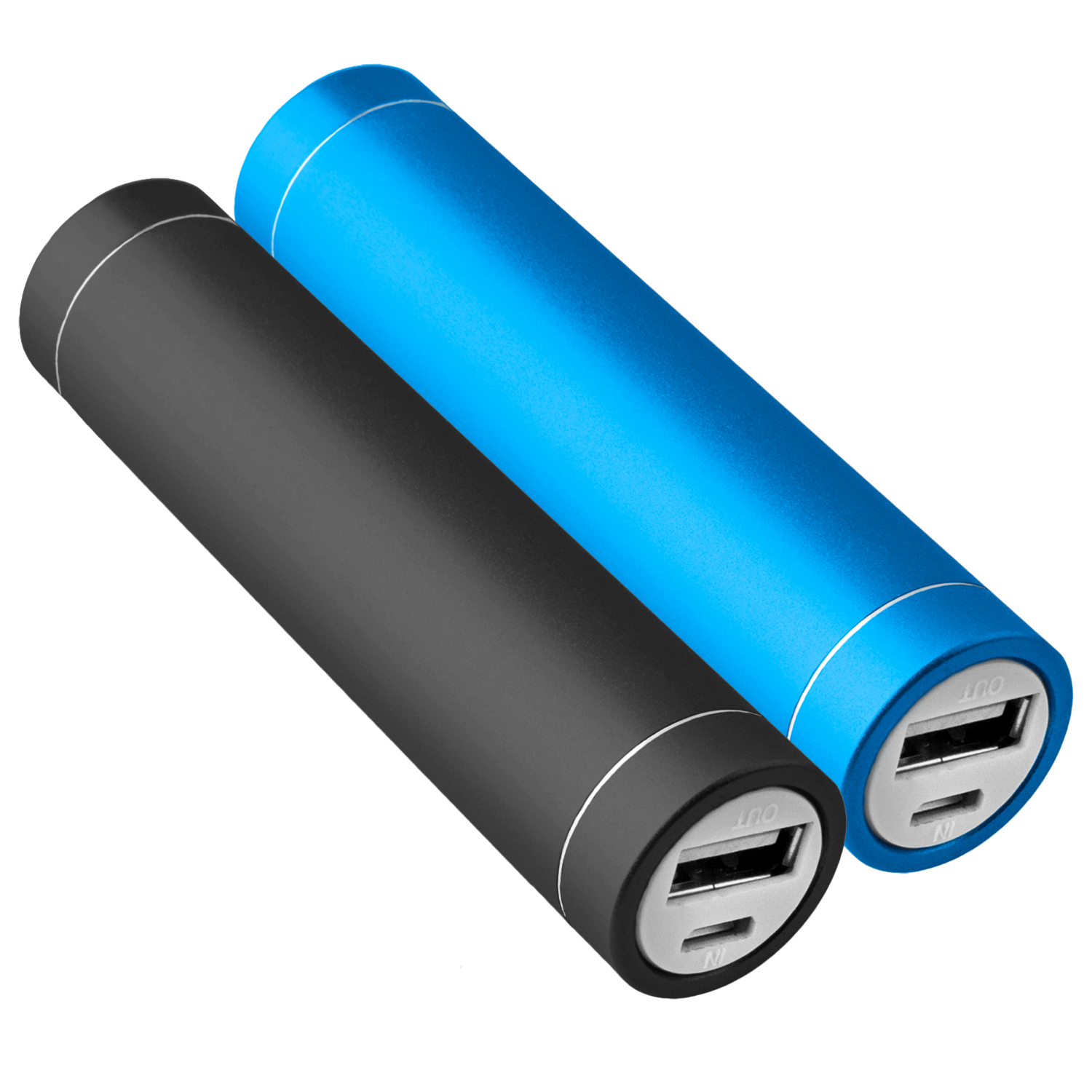 2x-Power-Bank-Akku-2600-mAh-Ladegeraet-extern-USB-iPhone-4-4S-blau-schwarz-NT003