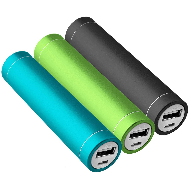 3x-Power-Bank-Zusatzakku-2600-mAh-USB-iPhone-5s-gruen-schwarz-tuerkis-NT003