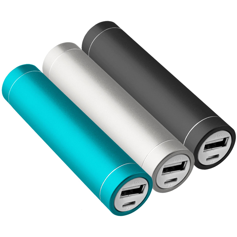 3x-Power-Bank-Zusatzakku-2600-mAh-USB-iPhone-5s-tuerkis-schwarz-silber-NT003