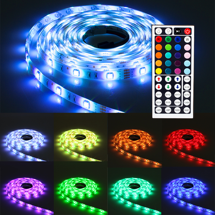 ninetec flash30 5m led strip band mit 30 hochleistungs led pro meter wasserfest ebay. Black Bedroom Furniture Sets. Home Design Ideas