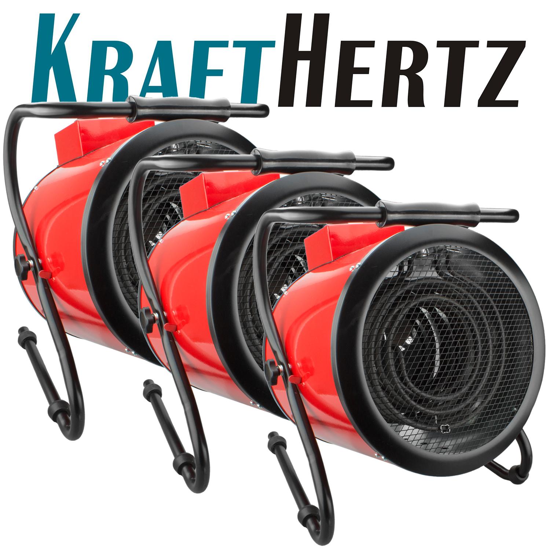 3-KRAFTHERTZ-Heizgeraet-Elektroheizer-Industrieheizstrahler-Bautrockner-KHEY9-9KW
