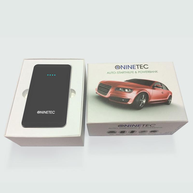 ninetec 12v auto starthilfe power bank akku 2in1 black f r iphone tablet pc ebay. Black Bedroom Furniture Sets. Home Design Ideas