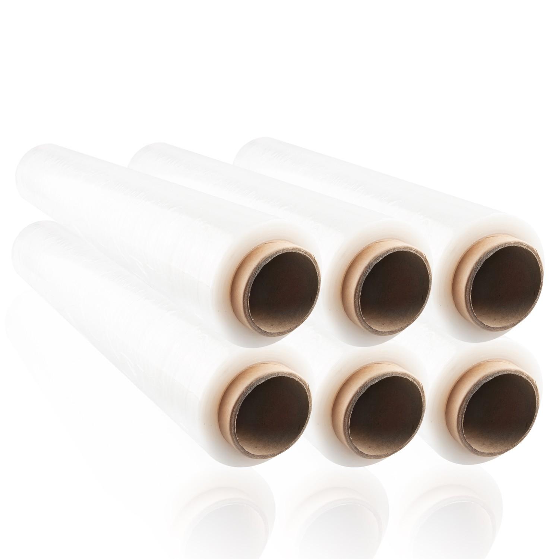 6-Rollen-XL-Paletten-Folie-transparent-20my-Breite-50cm-Hand-Stretchfolie