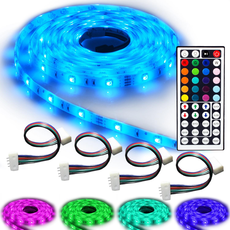 ninetec flash30 profi set 5m rgb led strip e band wasserdicht ip65 4 verbinder ebay. Black Bedroom Furniture Sets. Home Design Ideas