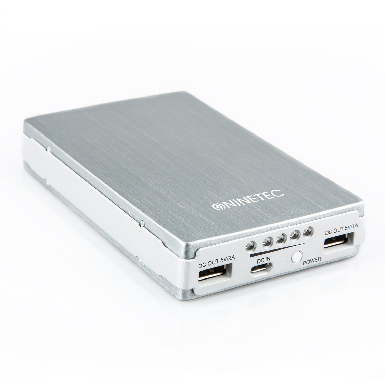 14000-mAh-Power-Bank-externer-Zusatzakku-mobiles-Ladegeraet-Iphone-Samsung-silber