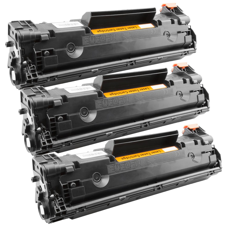 3x Toner XXL ProSerie kompatibel zu HP CB435A 35A