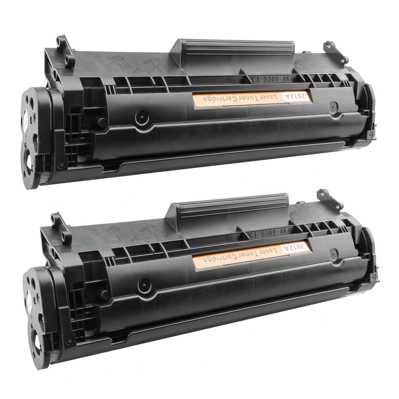 2x Toner XXL ProSerie kompatibel zu HP Q2612A 12A