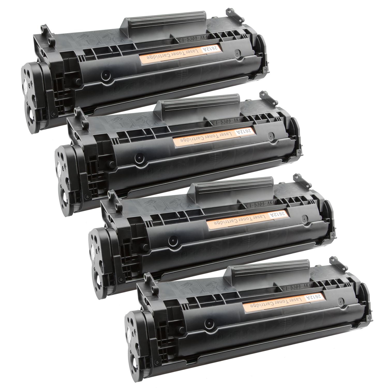 4x Toner XXL ProSerie kompatibel zu HP Q2612A 12A