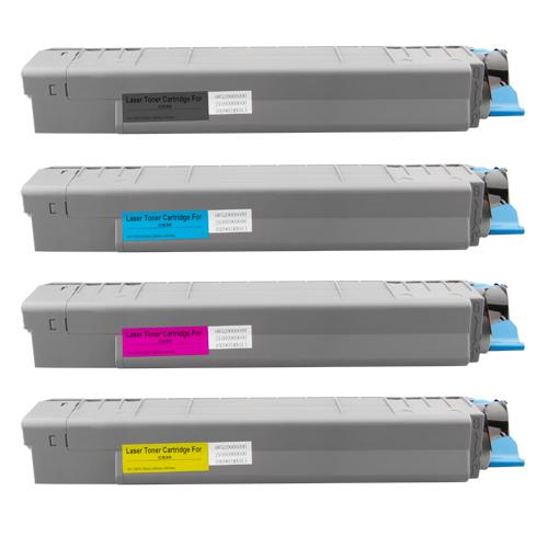 Set 4 Toner XXL ProSerie kompatibel zu OKI C830K, C830C, C830M, C830Y