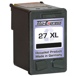 Druckerpatrone XXL recycled ProSerie. Ersetzt HP 27