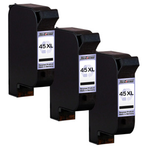 3x Druckerpatrone XXL recycled ProSerie. Ersetzt HP 45