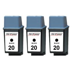 3x Druckerpatrone XXL recycled ProSerie. Ersetzt HP 20
