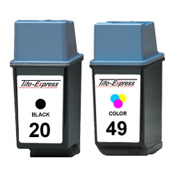 Sparset 2 Patronen XXL recycled ProSerie. Ersetzt HP 20 & 49