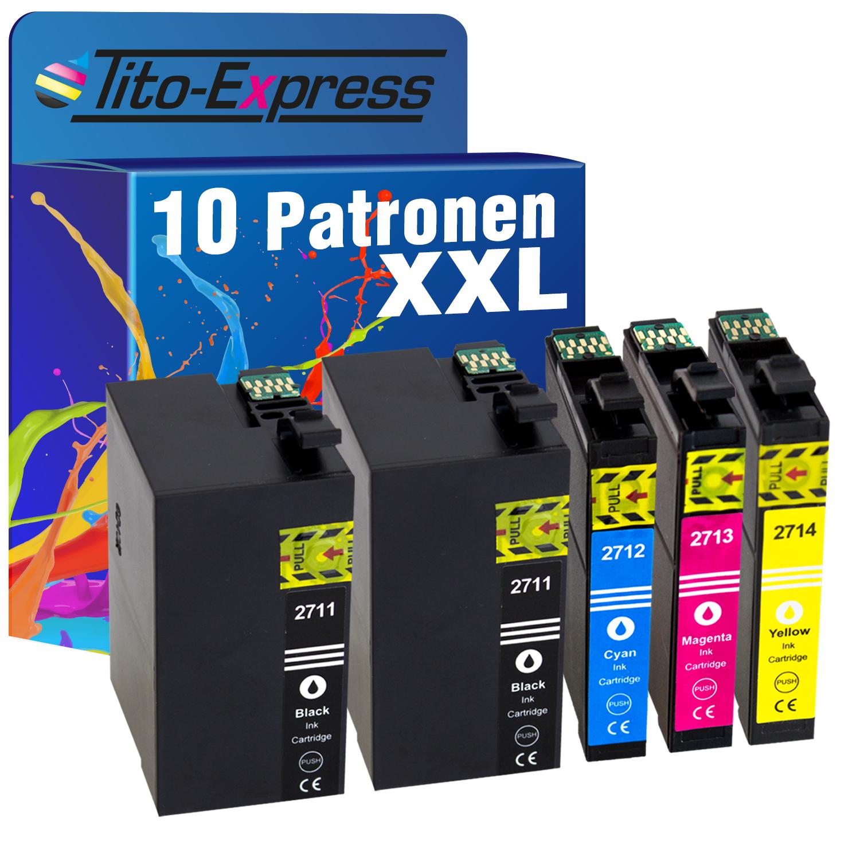 Sparset 10 Patronen XXL ProSerie kompatibel zu Epson T2711-T2714