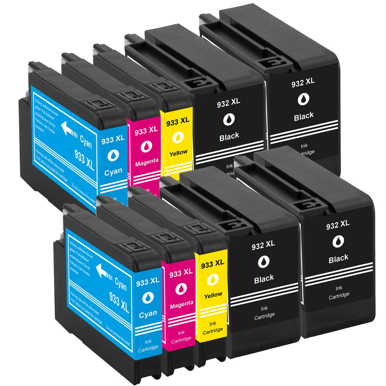Sparset 10 Patronen XXL ProSerie kompatibel zu HP 932XL & 933XL BK, C, M, Y