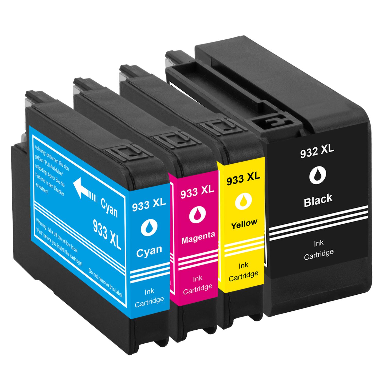 Sparset 4 Patronen XXL ProSerie kompatibel zu HP 932XL & 933XL BK, C, M, Y