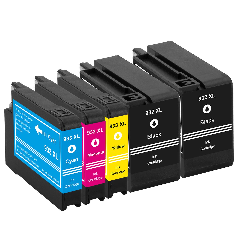 Sparset 5 Patronen XXL ProSerie kompatibel zu HP 932XL & 933XL BK, C, M, Y