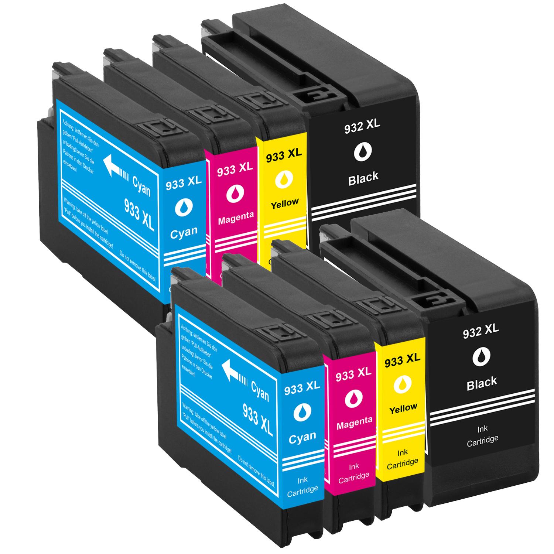 Sparset 8 Patronen XXL ProSerie kompatibel zu HP 932XL & 933XL BK, C, M, Y