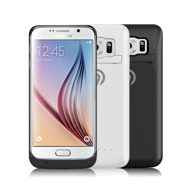 ninetec power case f r samsung galaxy s6 cover mit backup akku wei ebay. Black Bedroom Furniture Sets. Home Design Ideas