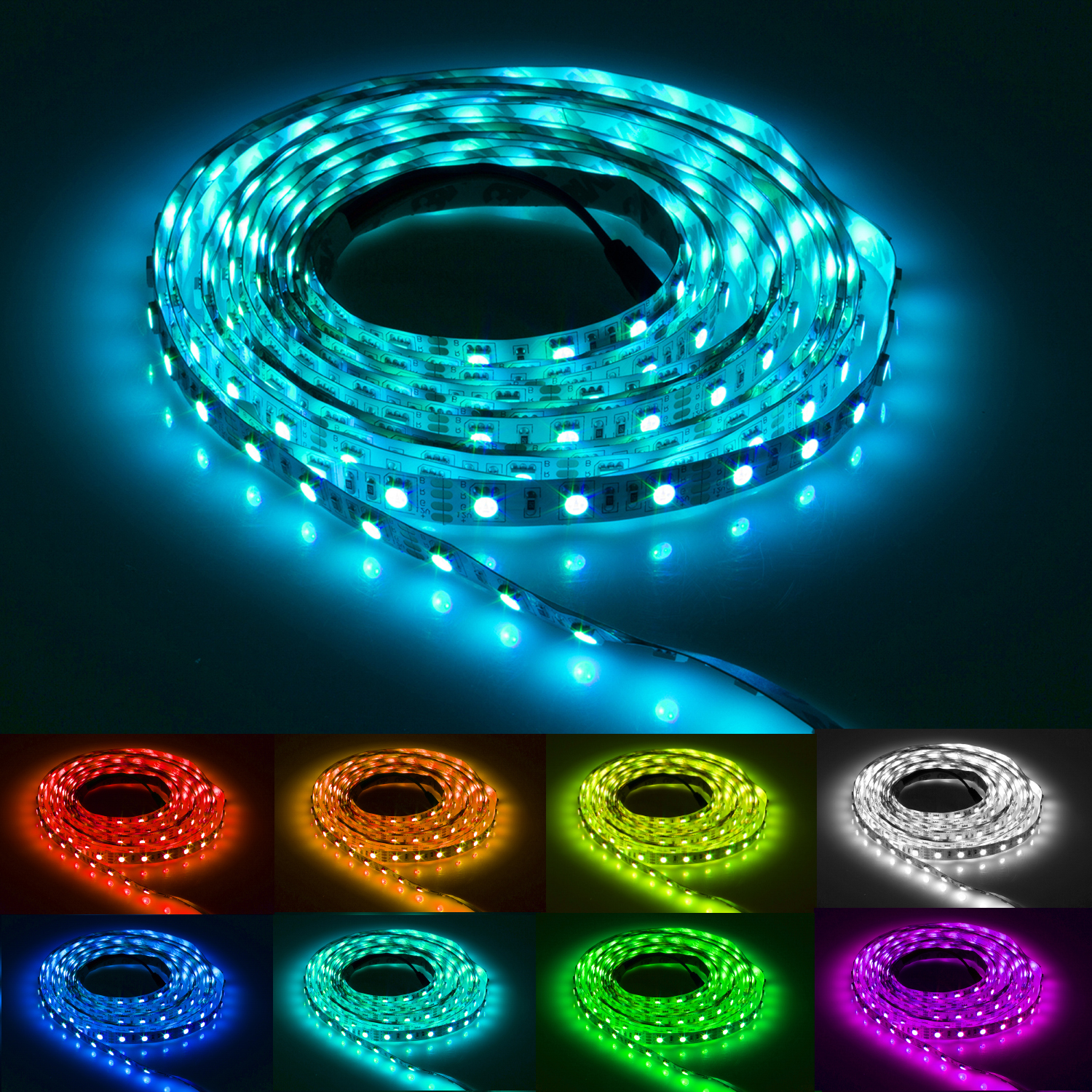 flash60 5m rgb led strip e band kette streifen leiste. Black Bedroom Furniture Sets. Home Design Ideas