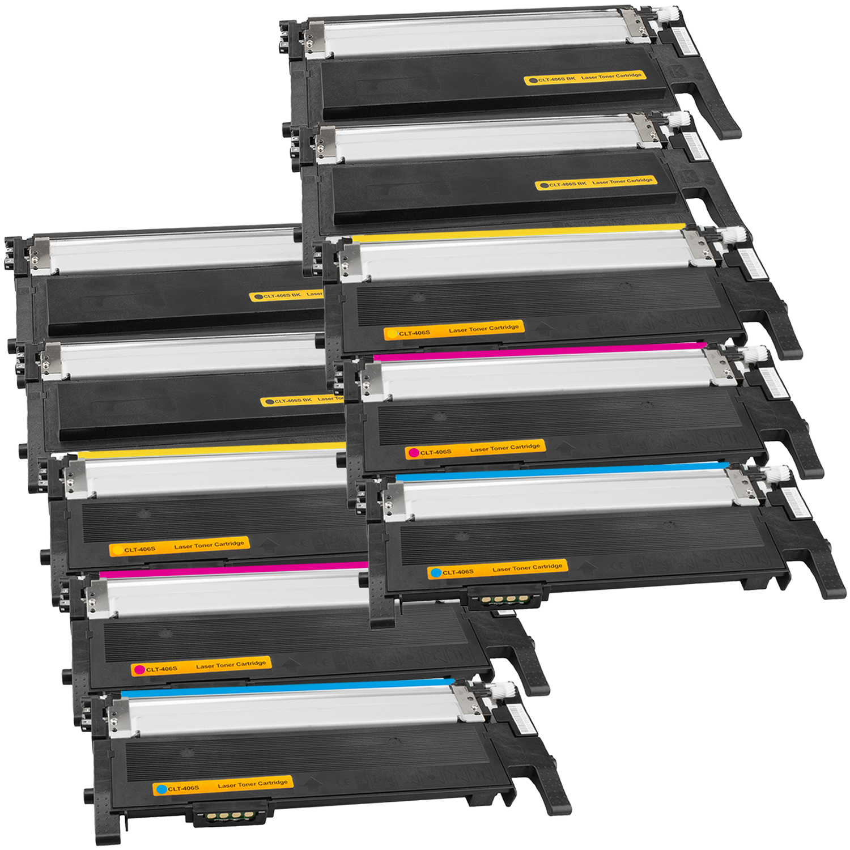 Set 10 Toner XXL ProSerie kompatibel zu Samsung CLT-K406S, CLT-C406S, CLT-M406S, CLT-Y406S CLP-365