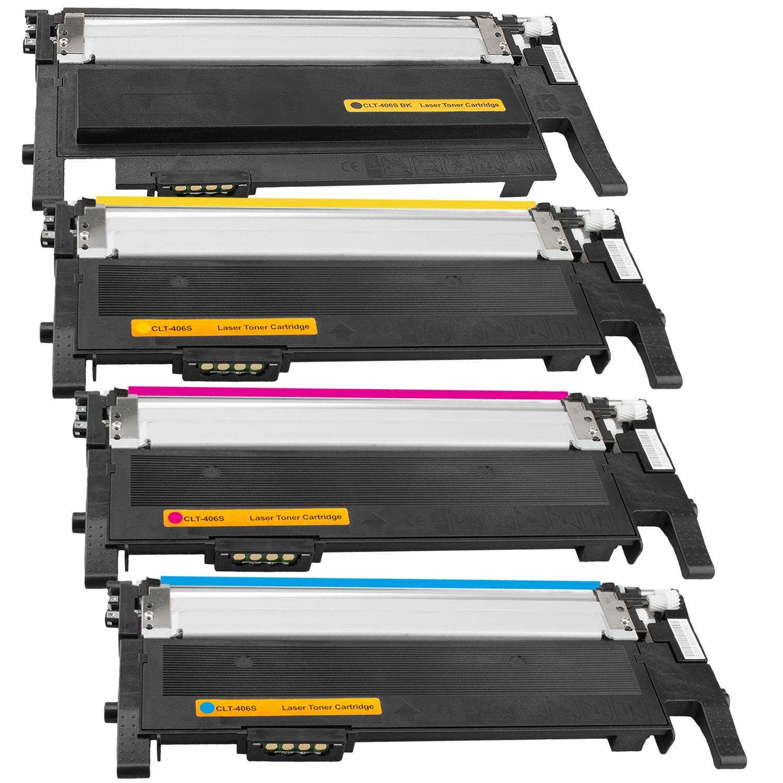Set 4 Toner XXL ProSerie kompatibel zu Samsung CLT-K406S, CLT-C406S, CLT-M406S, CLT-Y406S CLP-365