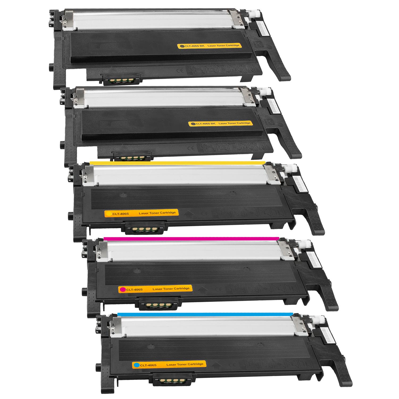 Set 5 Toner XXL ProSerie kompatibel zu Samsung CLT-K406S, CLT-C406S, CLT-M406S, CLT-Y406S CLP-365