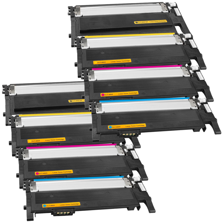 Set 8 Toner XXL ProSerie kompatibel zu Samsung CLT-K406S, CLT-C406S, CLT-M406S, CLT-Y406S CLP-365