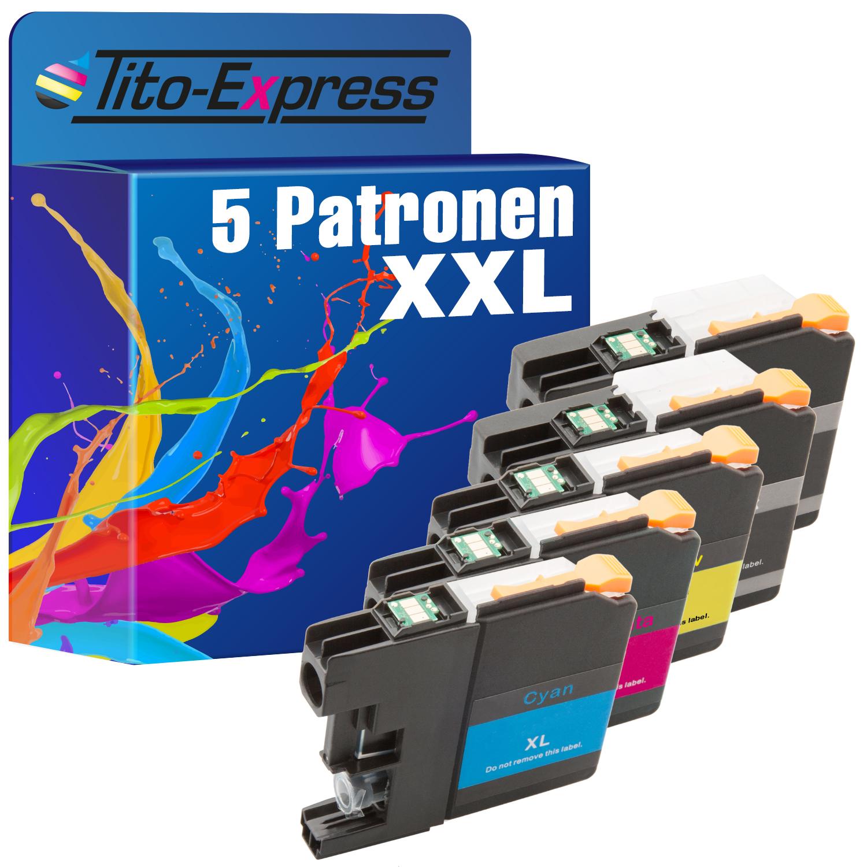 Sparset 5 Patronen XXL ProSerie kompatibel zu Brother LC223 BK, C, M, Y