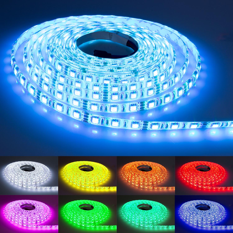 5m rgb led strip streifen dimmbar indirekte beleuchtung hintergrundbeleuchtung ebay. Black Bedroom Furniture Sets. Home Design Ideas