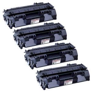 4x Toner XXL ProSerie kompatibel zu HP CE505X 05X