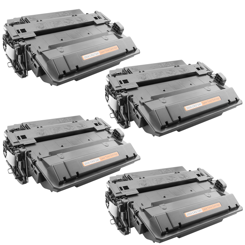 4x Toner XXL ProSerie kompatibel zu HP CE255X 55X