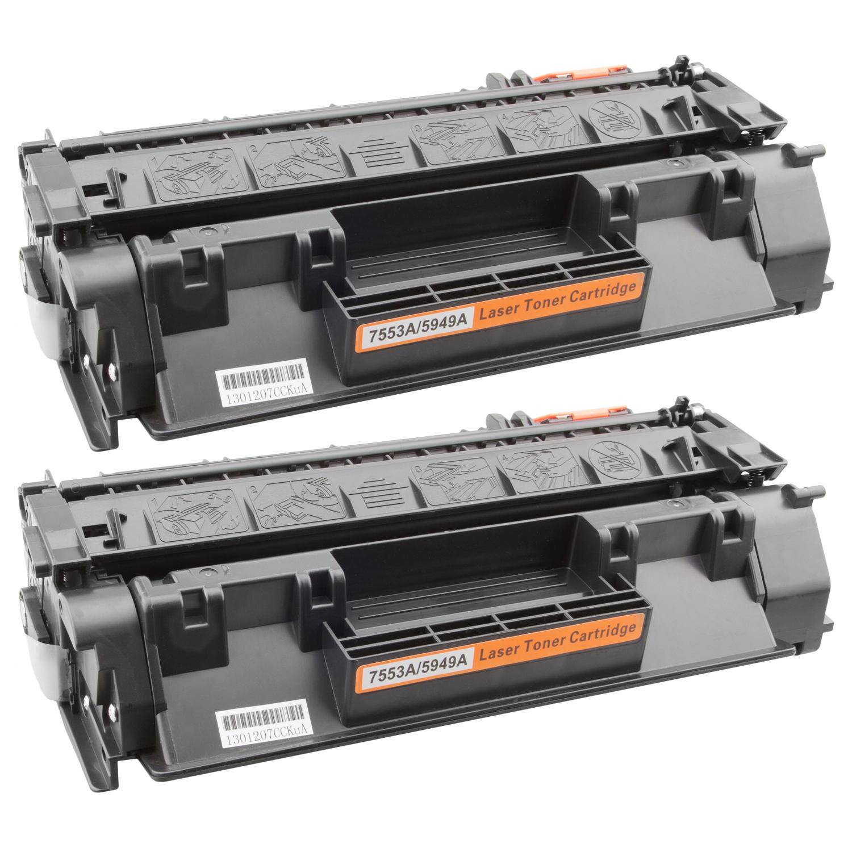 2x Toner XXL ProSerie kompatibel zu HP Q7553A 53A