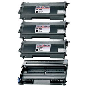 Trommel & 3 Toner SuperXL kompatibel zu Brother TN-2000 & DR-2000