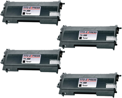 4x Toner XL ProSerie kompatibel zu Brother TN-2000