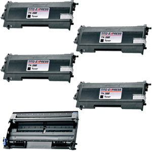 Trommel & 4 Toner SuperXL kompatibel zu Brother TN-2000 & DR-2000