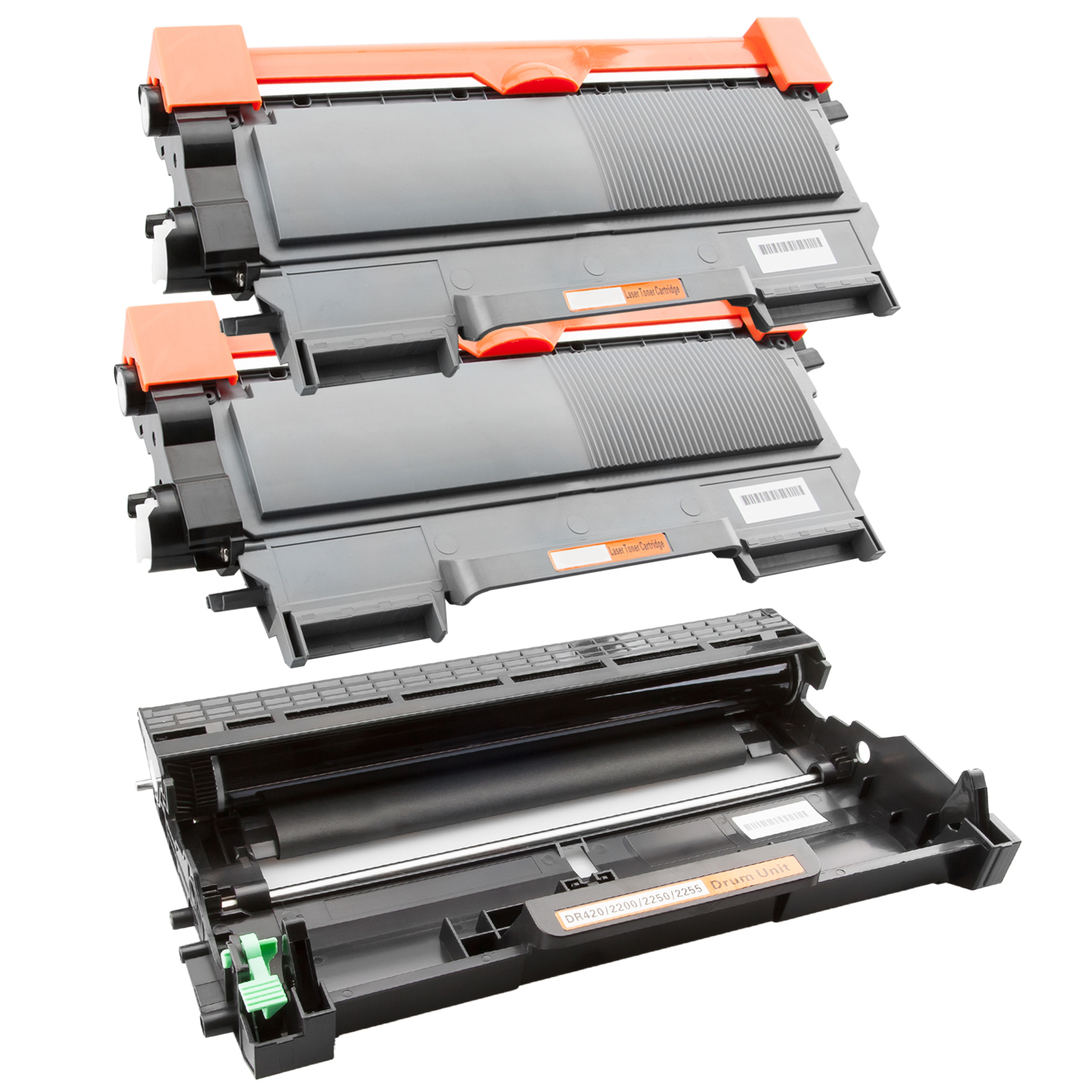Trommel & 2 Toner XL kompatibel zu Brother TN-2220 & DR-2200
