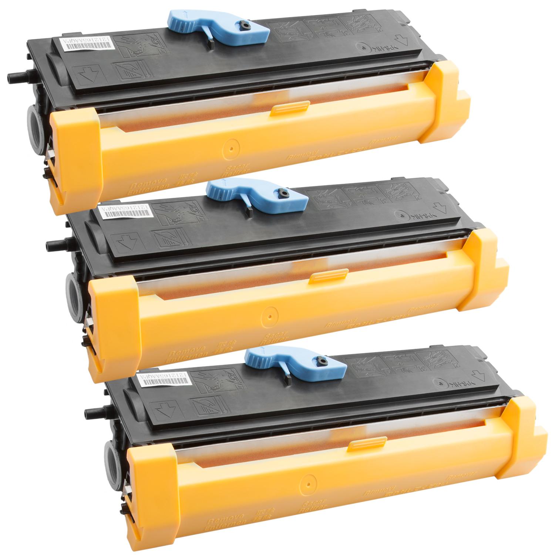 3x Toner XXL ProSerie kompatibel zu Epson C13S050166, EPL6200