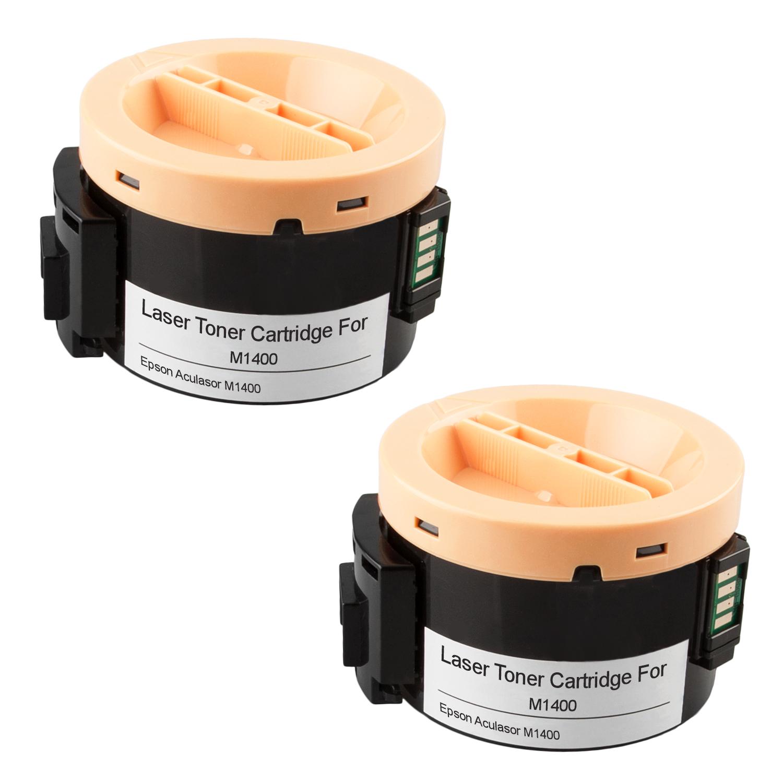 2 Toner XXL ProSerie kompatibel zu Epson C13S050650, M1400