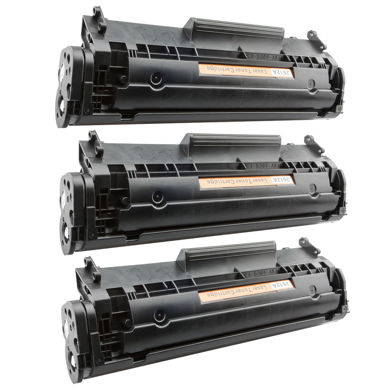 3x Toner XXL ProSerie kompatibel zu HP Q2612A 12A