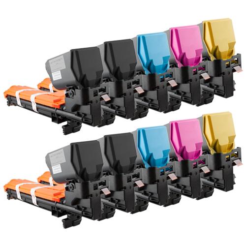 Set 10 Toner XXL ProSerie kompatibel zu Konica Minolta 3730K, 3730C, 3730M, 3730Y