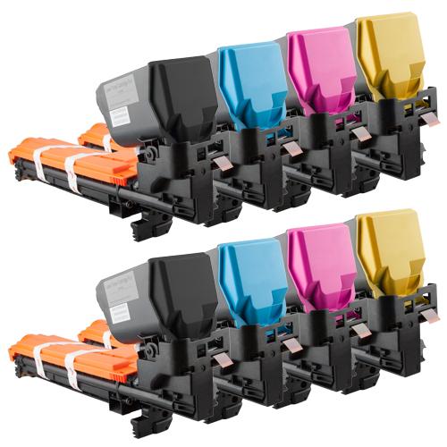Set 8 Toner XXL ProSerie kompatibel zu Konica Minolta 3730K, 3730C, 3730M, 3730Y