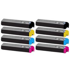 Set 8 Toner XXL ProSerie kompatibel zu Kyocera TK-510K, TK-510C, TK-510M, TK-510Y
