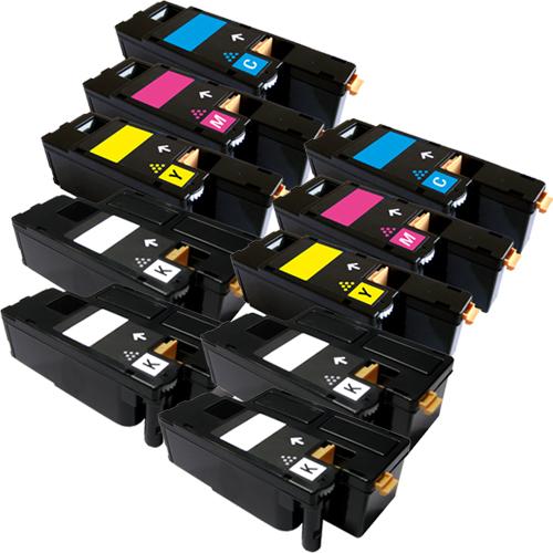 Set 10 Toner XXL ProSerie kompatibel zu Xerox 6000K, 6000C, 6000M, 6000Y