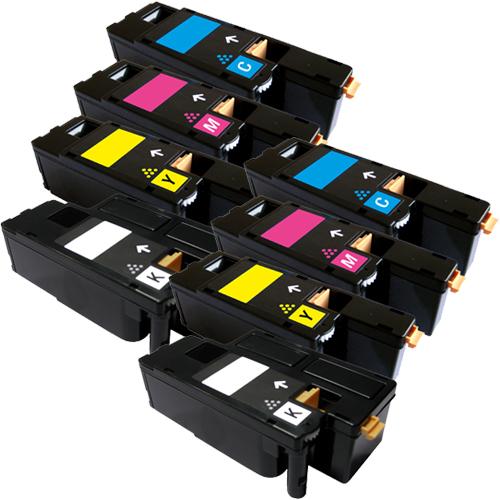Set 8 Toner XXL ProSerie kompatibel zu Xerox 6000K, 6000C, 6000M, 6000Y