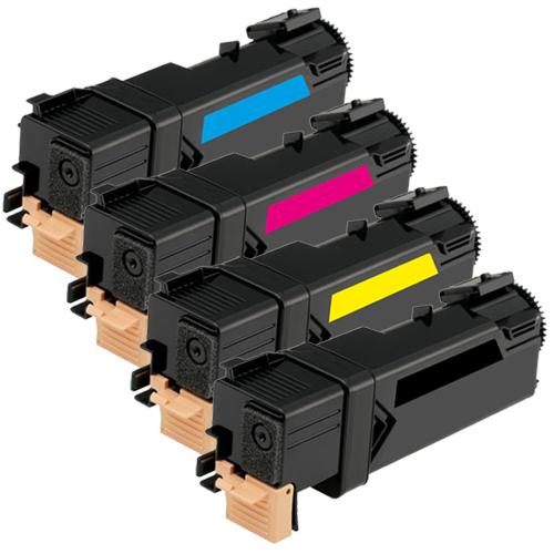 Set 4 Toner XXL ProSerie kompatibel zu Xerox 6125K, 6125C, 6125M, 6125Y