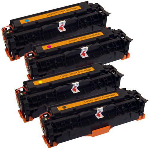 Set 4 Toner XXL ProSerie kompatibel zu HP CC530A, CC531A, CC532A, CC533A, 304A